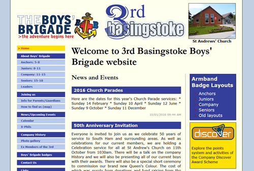 3rd Basingtoke Boys' Brigade website