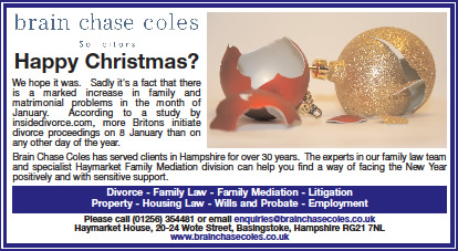 Brain Chase Coles for the Basingstoke Gazette - Small advert