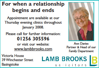 Lamb Brooks advert for the Basingstoke Gazette