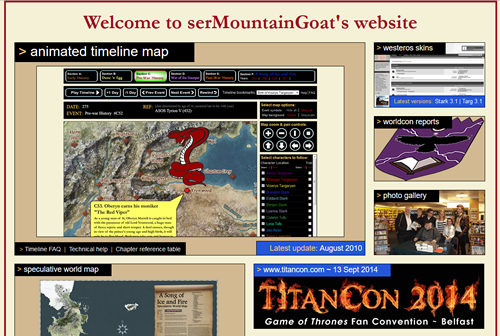 Ser Mountain Goat's website
