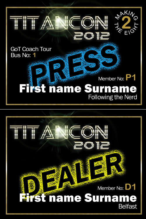 TitanCon 2012 name badge