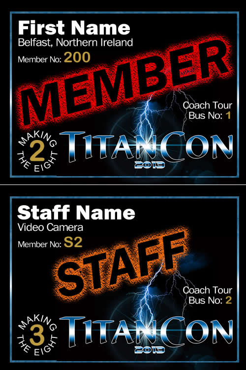 TitanCon 2013 name badge