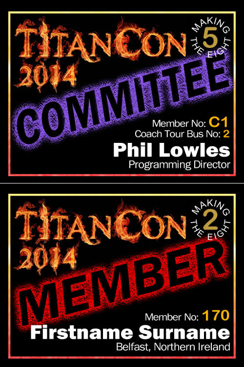 TitanCon 2014 name badge