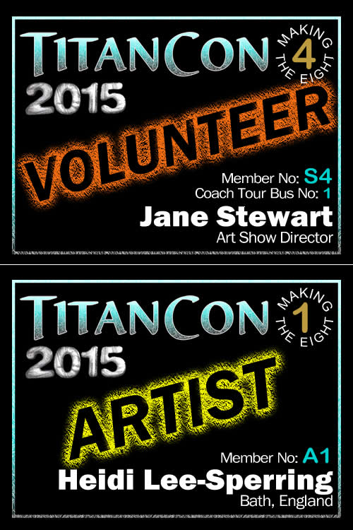 TitanCon 2015 name badge